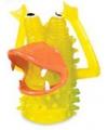 Vingerpopje geel monster 5 cm