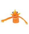 Vingerpopje oranje monster 5 cm