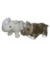 Witte neushoorn knuffel 58 cm