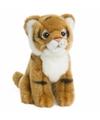 Wnf pluche tijger knuffel zittend 15 cm