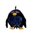 Zwarte pluche angry birds bomb 22 cm