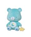 Blauwe troetelbeer knuffel met rammelaar 24 cm