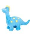Dino knuffel brontosaurus blauw 28 cm