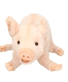 Hansa pluche big varken knuffel liggend 28 cm