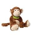 Pluche aap chimpansee knuffel met sjaaltje 38 cm
