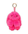 Pluche fuchsia roze konijn sleutelhanger 15 cm