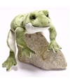 Pluche groene kikker knuffel 30 cm