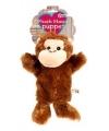 Pluche handpop chimpansee aap 21 cm