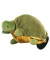 Pluche handpop schildpad 22 cm
