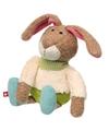 Pluche patchwork haas konijn knuffel 28 cm