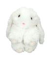 Pluche witte konijn sleutelhanger 15 cm