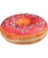 Sprinkels donut kussen roze 40 cm
