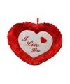 Valentijnscadeau hart kussen 45 cm i love you