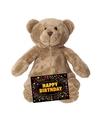 Verjaardag knuffel beer 17 cm gratis verjaardagskaart