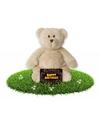 Verjaardag knuffel teddybeer 23 cm gratis verjaardagskaart